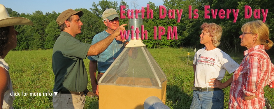 Earth Day with IPM: Ken Wise demonstrating the Horse Pal fly trap
