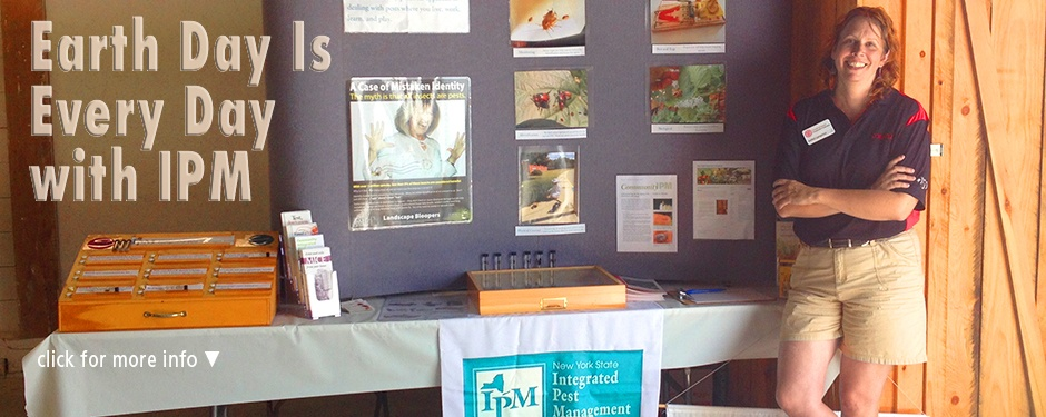 Earth Day with IPM: Joellen Lampman at the IPM display